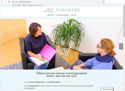 Webseite für Ulrike Kowalczyk Lehrercoaching Karlsruhe