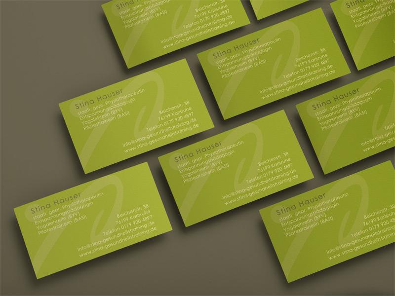 Visitenkarten Stina Hauser Gesundheitstraininga