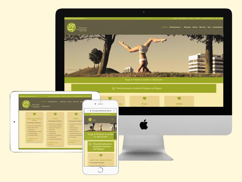 Responsiver Webauftritt für Albtal Hörgeräteponsiver Webauftritt Stina Hauser Gesundheitstraining