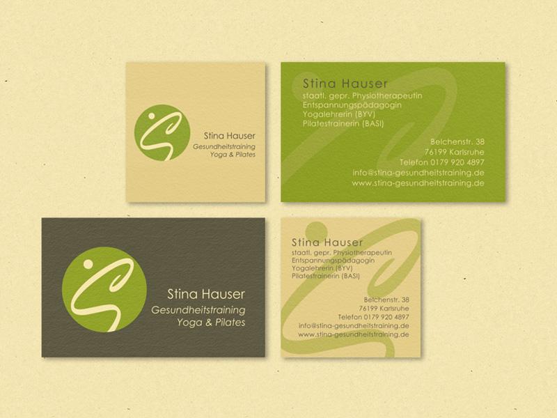 Visitenkarten Stina Hauser Gesundheitstraining